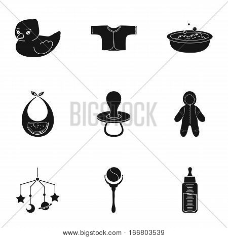 Baby born set icons in black design. Big collection of baby born vector symbol stock illustration