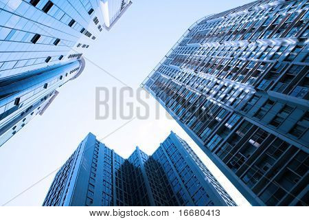 modern buildings in perspective