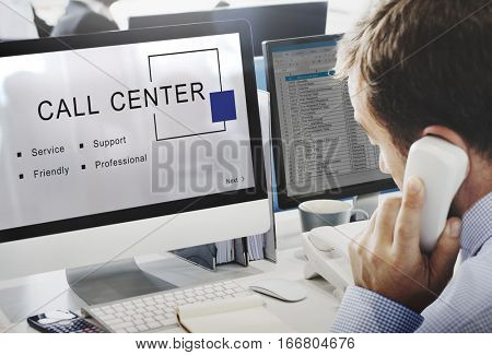 Call Center Customer Service Support Concept