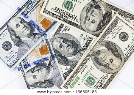 Multiple America US Dollar Currency as background texture