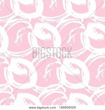 Trendy abstract seamless pattern for wallpaper, fabric, wrapping paper. Hand drawn texture. Stock vector.