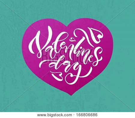 Hand Sketched Valentine's Day Text As Valentine's Day Logotype, Badge/icon