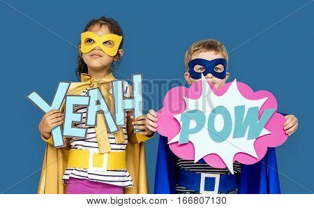 Little Kids Superhero Yeah Pow Papercrafts
