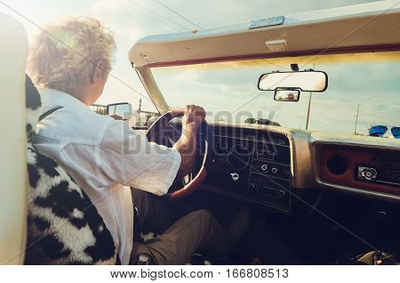 Old Man In The Convertible