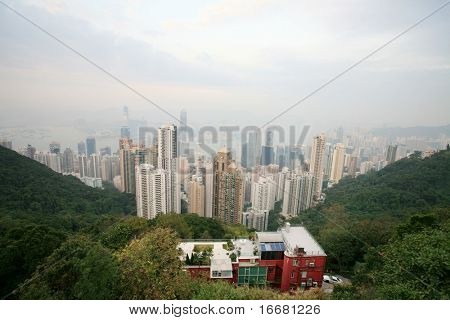 Hong Kong view from Taiping mountain