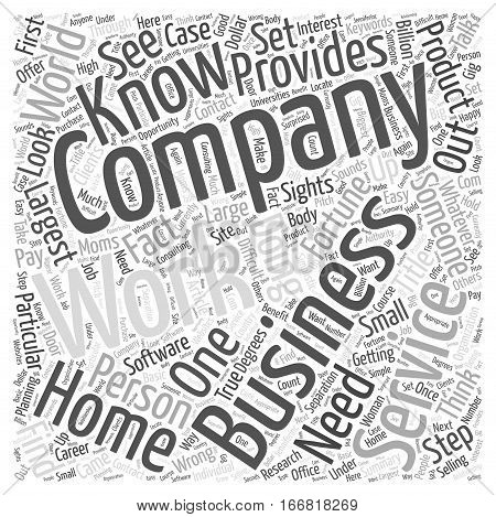 How Your Home Business Can Get Fortune Clients That Pay You A Fortune Word Cloud Concept