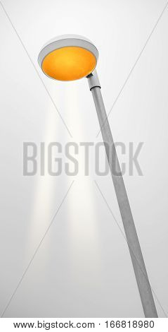 Abstract view to a streetlamp in black and white