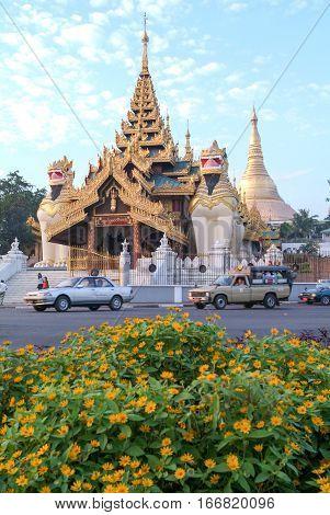 Shwedagon pagoda at Yangon capital of Myanmar