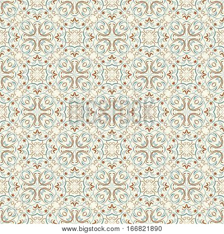 Fine oriental patterns in natural soft colors. Seamless oriental patterns. Filigree geometric patterns. Morocco ancient patterns. Vector small oriental vintage patterns.