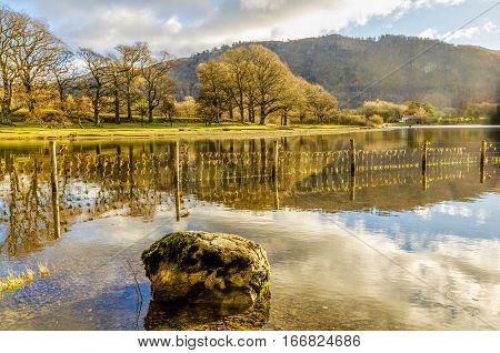 a view of the Northern end of Derwentwater in the English Lake District.