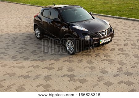 DNIPRO, UKRAINE - APRIL 12 2016: NISSAN JUKE IN CITY