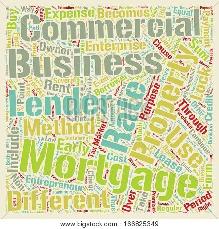 Hunt for the Best Commercial Mortgage Rates text background wordcloud concept