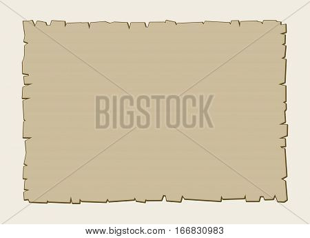 Vintage vector brown parchment background. Old paper texture brown illustration