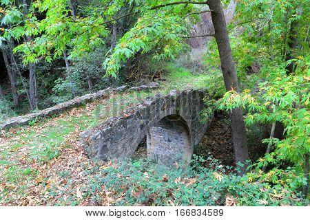 CYPRUS: Old Venetian Bridge near Tres Elies village in Troodos Mountains