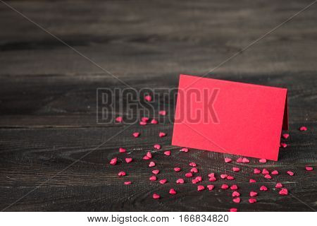 Valentine's Day decorations with card for love confession. Love background