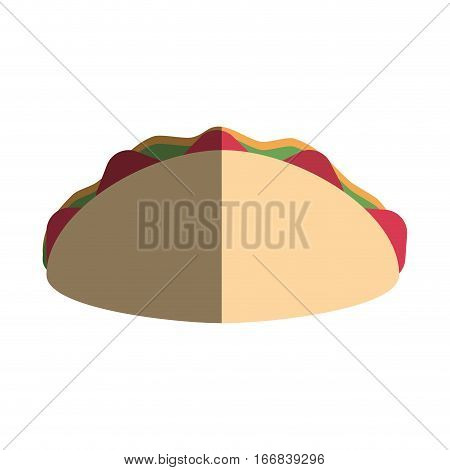 wrap icon over white background. fast food concept. colorful design. vector illustration