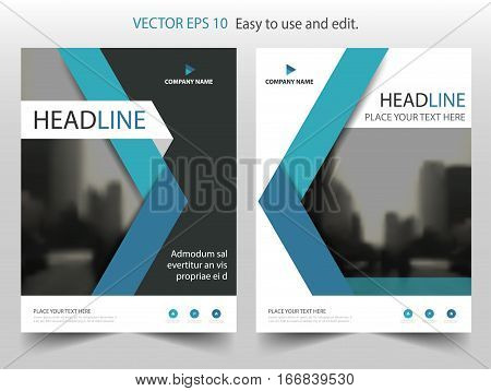 Blue black annual report Leaflet Brochure Flyer template design book cover layout design abstract business presentation template a4 size design