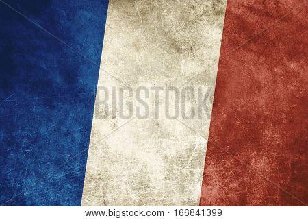 background of  Grunge France flag in color