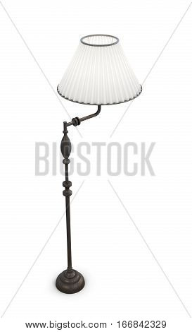 Standard Lamp Isolated On White Background. 3D Rendering