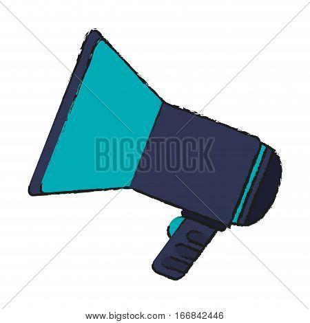 megaphone icon over white background. colorful design. vector illustration