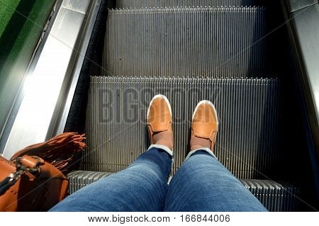 step by step steps to success, escalator side