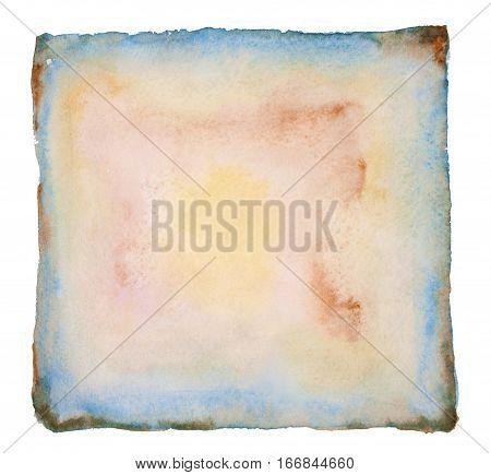Old Dry Paper With Torn Edges Curled Isolated on a White Background for menu