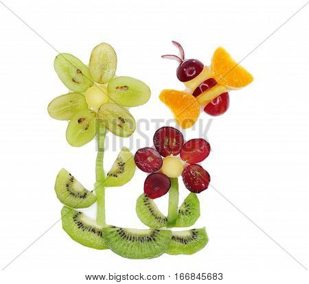 creative fruit dessert for child funny form bee