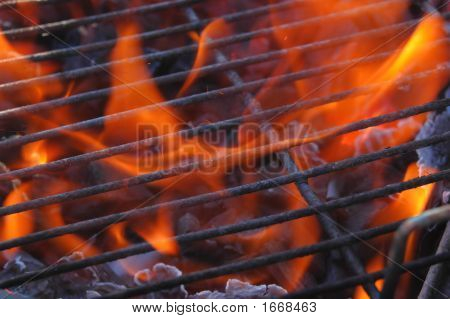 Flames Through The Grill