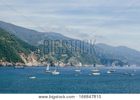 Boats And Yachts In Liguria Sea, Italy