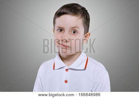 Concept Of Discontent Little Boy