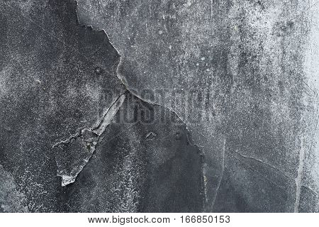 Close Up Of Grungy Rough Scratched Grey Metal Background