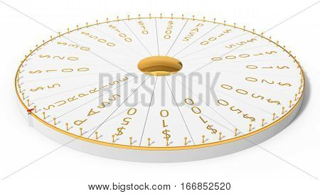 3d illustration of wheel of luck. full size view.