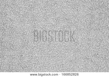 Gray pile terry cloth texture fabric background