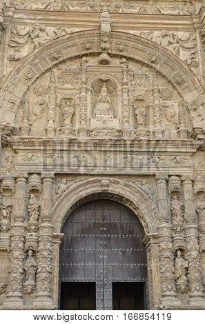 Entrance of Priory Church in The Port of Saint Mary a municipality located in the province of Cadiz Andalusia Spain