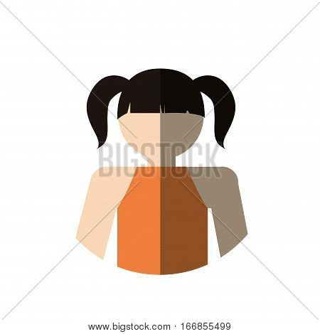 portrait girl daugther kid with shadow vector illustration eps 10