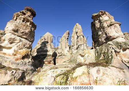Rock formations in Capadocia from nevsehir Turkey