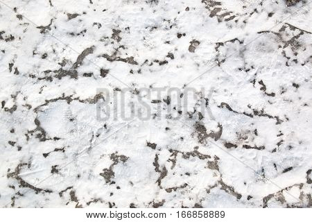 ice covered with snow winter nature background