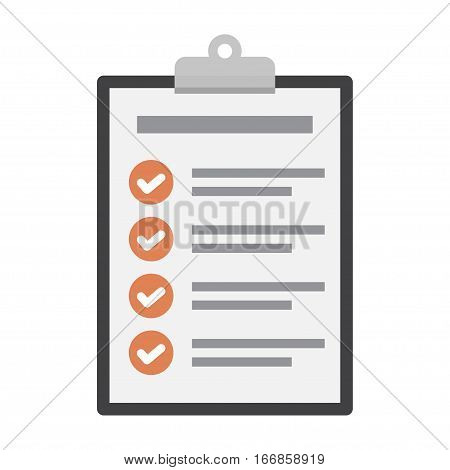 Checklist icon in a flat design on a white background