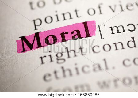 Fake Dictionary Dictionary definition of the word Moral.