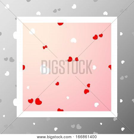 Сute pattern with dynamic couples of hearts. Love romantic and Valentine's Day background. Wrapping paper also. Easy and convenient to edit.