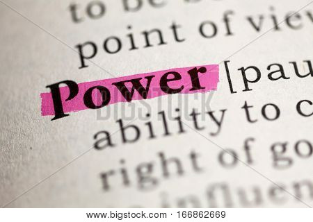 Fake Dictionary Dictionary definition of the word Power.