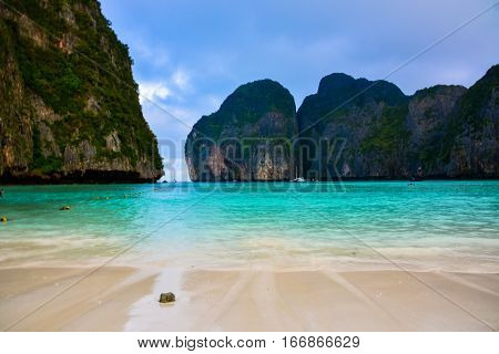 Maya Bay - Beautiful beach in Phi Phi Island - (Thailand /January 2017)