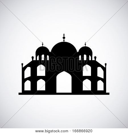 st pauls cathedral icon over white background. travel and tourism design. vector illustration