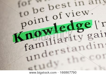 Fake Dictionary Dictionary definition of the word Knowledge.
