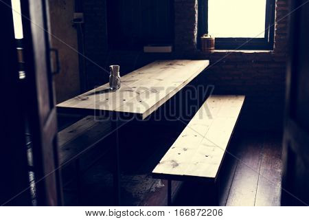 Dining Table Empty Nobody Restaurant Bistro