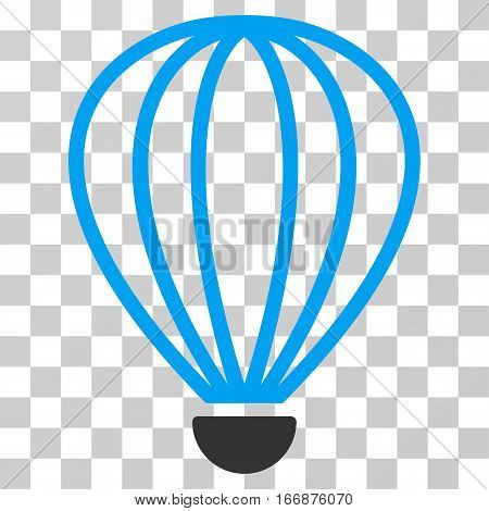 Aerostat vector icon. Style is flat graphic symbol.