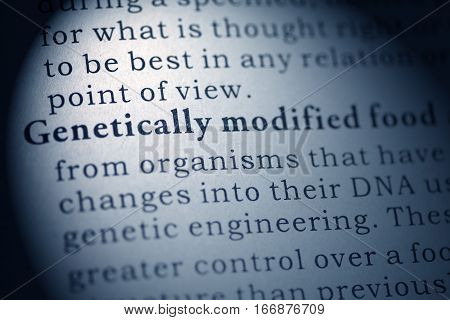 Fake Dictionary Dictionary definition of Genetically modified food.