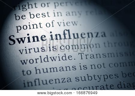 Fake Dictionary Dictionary definition of Swine influenza.