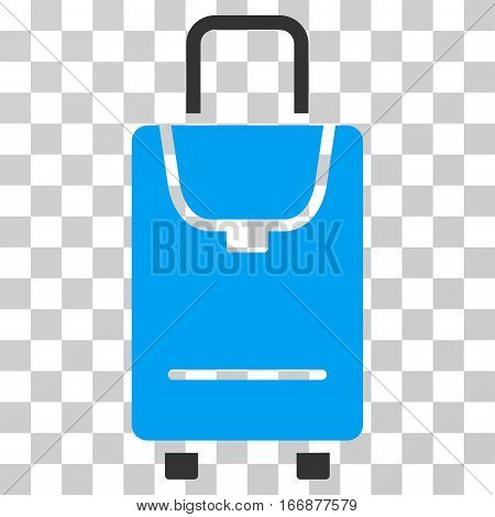 Carryon vector pictogram. Style is flat graphic symbol.