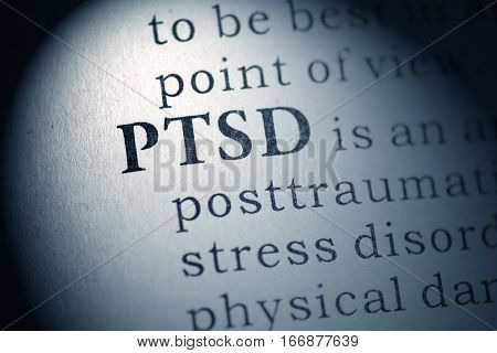 Fake Dictionary Dictionary definition of the word PTSD. Post Traumatic Stress Disorder